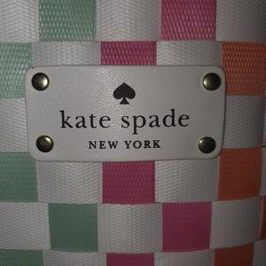Kate Spade New York Large Woven Multi Color Rainbo